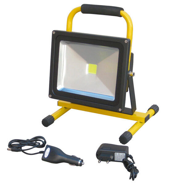 Wiederaufladbarer 10-W-LED-Strahler mit Ayerbe-Unterstützung