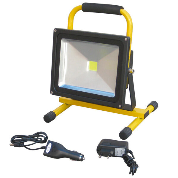 Wiederaufladbarer 20-W-LED-Strahler mit Ayerbe-Unterstützung