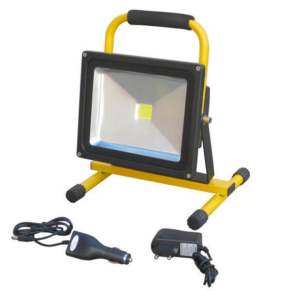 Wiederaufladbarer 30-W-LED-Strahler mit Ayerbe-Unterstützung
