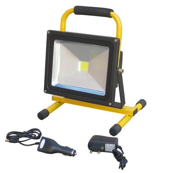 Wiederaufladbarer 50-W-LED-Strahler mit Ayerbe-Unterstützung