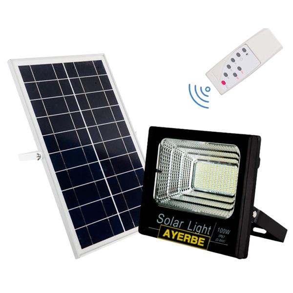 Foco solar 100W con mando a distancia Ayerbe AY-100W-SOLAR