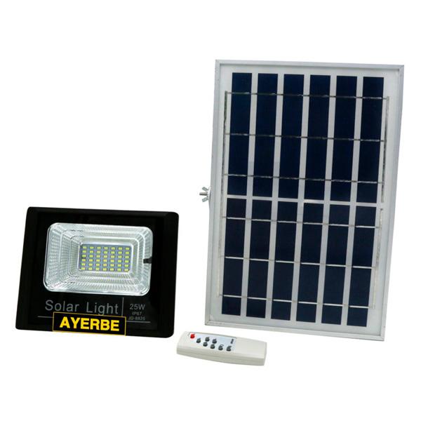 Foco solar 25W con mando a distancia Ayerbe AY-25W-SOLAR
