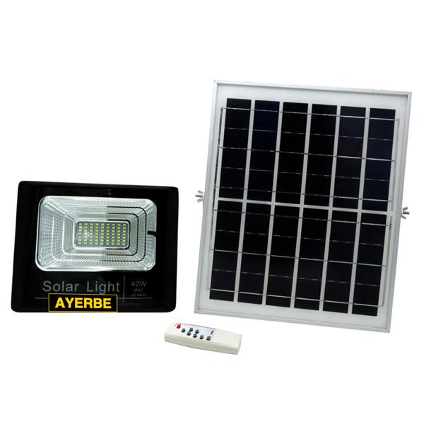 Foco solar 40W con mando a distancia Ayerbe AY-40W-SOLAR