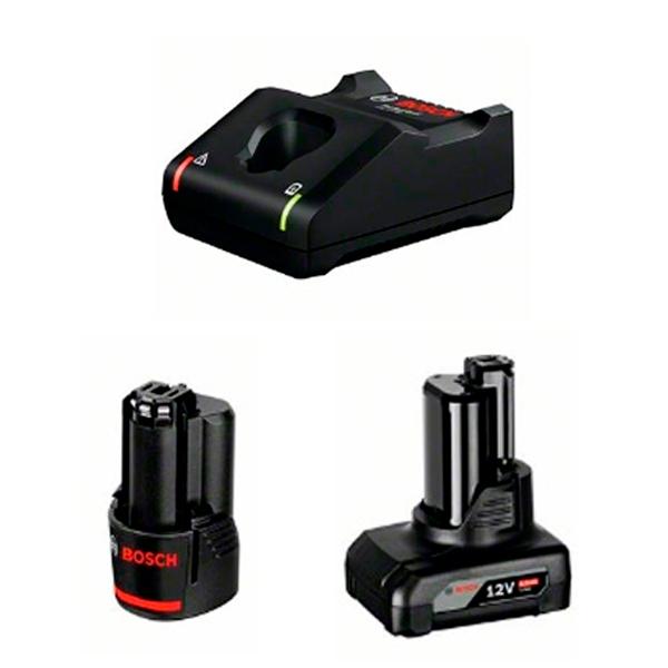 Juego básico Bosch 1 GBA 12V 2.0Ah + 1 GBA 12V 4.0Ah + GAL 12V-40