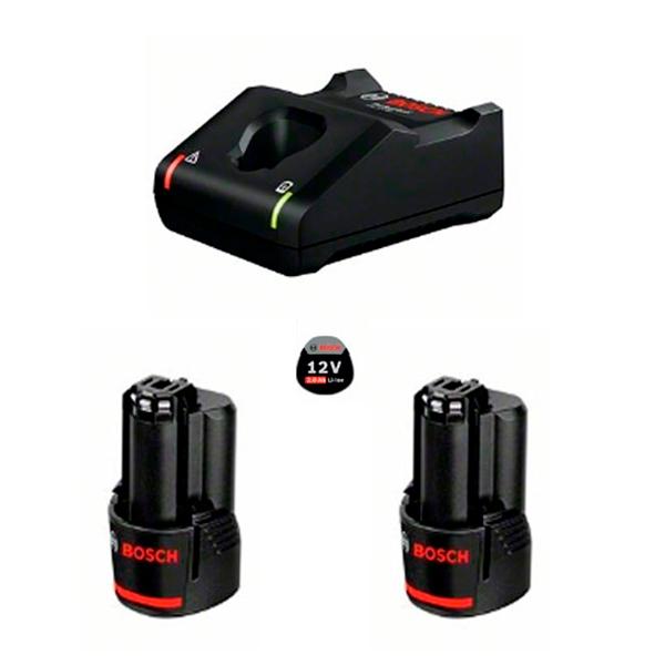 Juego básico Bosch 2 GBA 12V 2.0Ah + GAL 12V-40