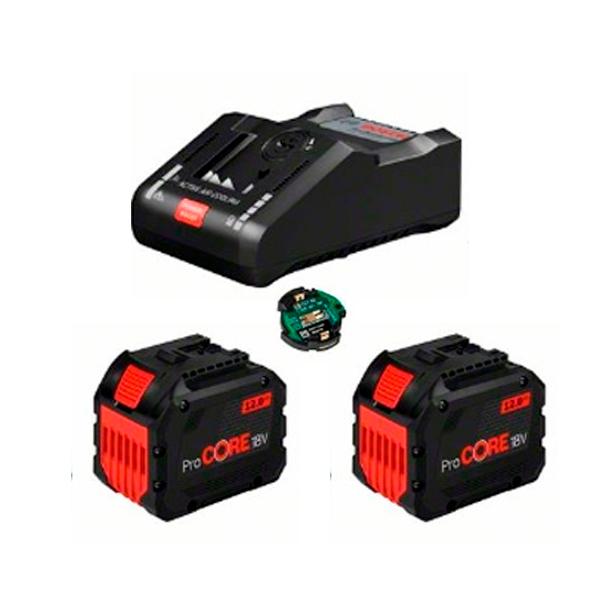 Juego básico Bosch 2 x ProCORE18V 8.0Ah + GAL 18V-160 C + GCY 42