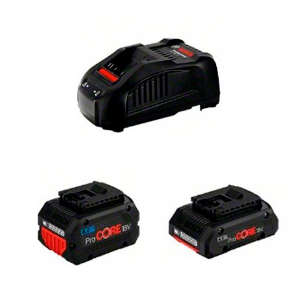 Juego básico Bosch de 1 ProCORE18V 4.0Ah + 1 ProCORE18V 8.0Ah + GAL 1880 CV