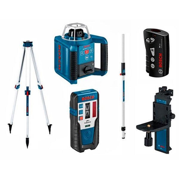 Nivel láser giratorio Bosch Set GRL 300 HV con RC 1 con WM 4 con LR1 con BT 170 con GR 240