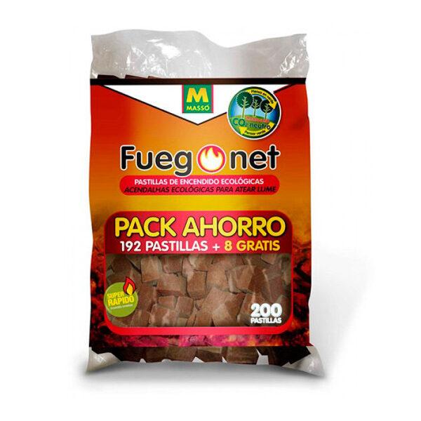 Ökologische Zündpillen Packung 192 Einheit Fuego Net