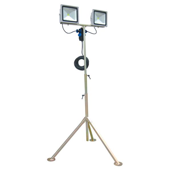 Trípode profesional con 2 focos LED 50W Ayerbe