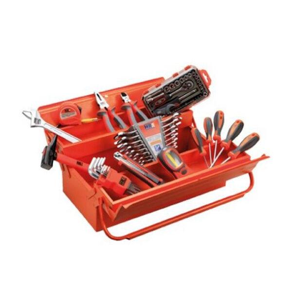 Coffret métal 5 plateaux avec outils HR