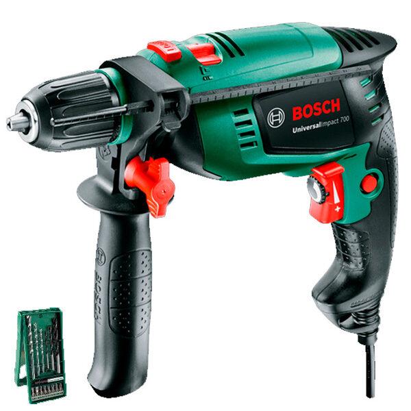 Atornillador y taladrador Bosch Universal impact 700 + 15 pcs X-line