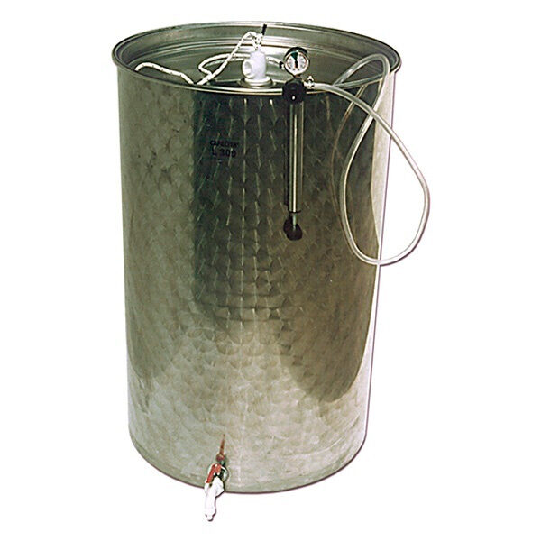 Depósitos para aceite BJR-ORK inox. 304 con cierre neumático SuperEco Plus con tapa de polvo
