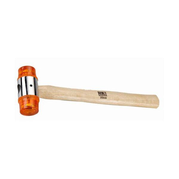 Martillo de bocas de PVC con mango de madera HR