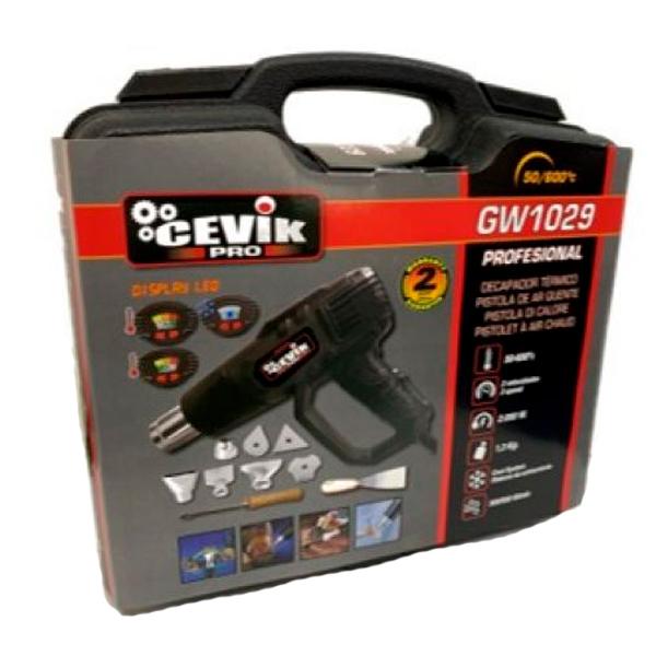 Dimmbare LED-Heißluftpistole 2000 W Cevik CE-GW1029M