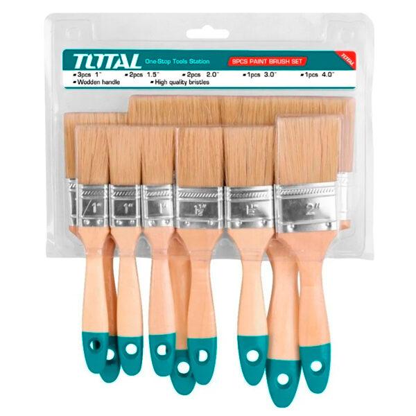 Conjunto de 9 brochas de pintor Anova-Total THT8414091