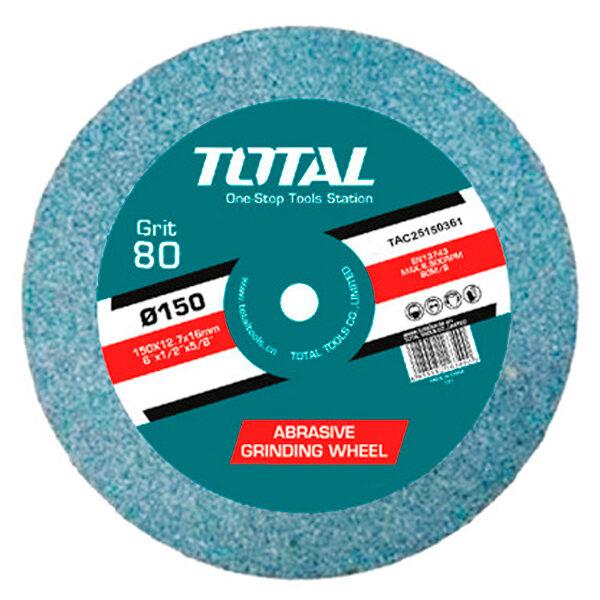 Disco piedra grano 36 para esmeriladoras eléctricas Anova-Total TAC25150361