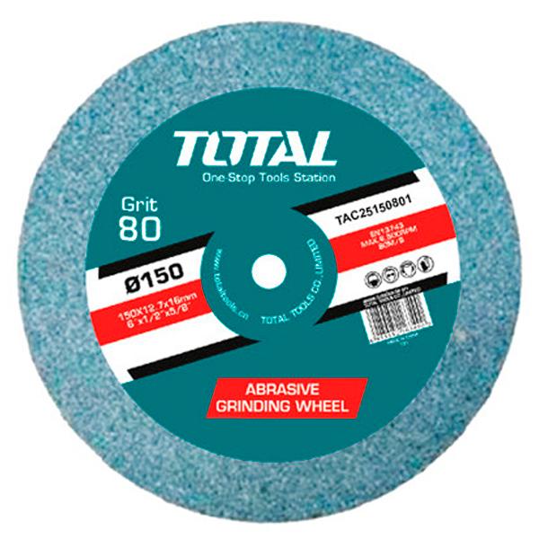 Disco piedra grano 80 para esmeriladoras eléctricas Anova-Total TAC25150801