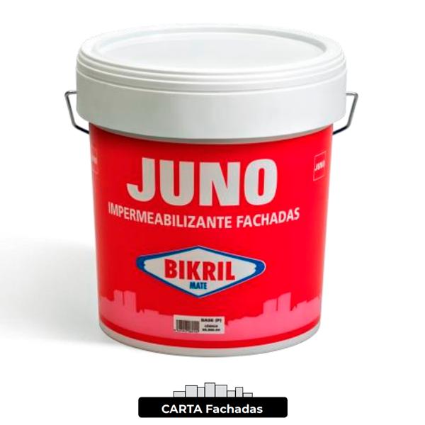 Pintura de fachada Juno BIKRIL Satinado Carta Fachadas