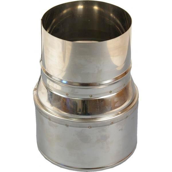 Edelstahl-Reduzierrohr 140 bis 120 mm