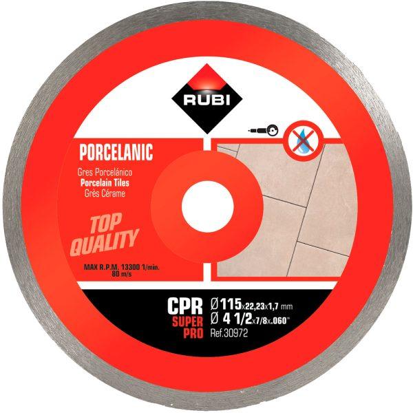 Disco de diamante Rubi CPR 115 SUPERPRO