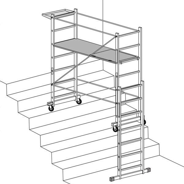 Kit escalinatas para andamios faraone