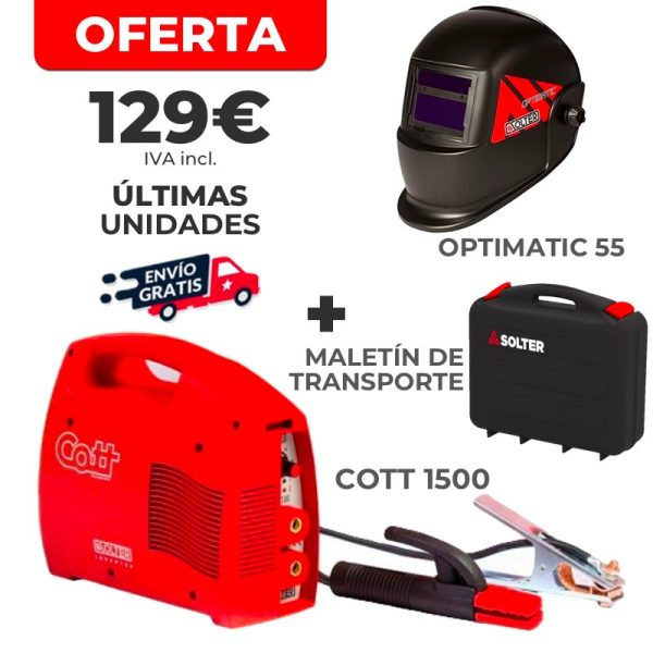 Kit de soudage Inverter COTT 1500 + Optimatic 55