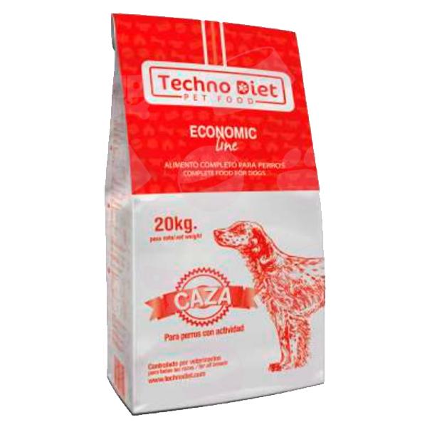 Pienso para perros Techno Diet Economic Line Caza E3 20Kg