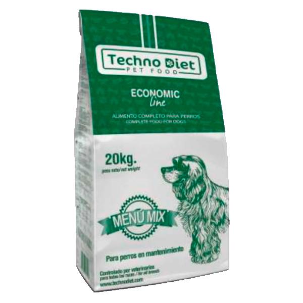 Pienso para perros Techno Diet Economic Line Menu Mix E2 20Kg