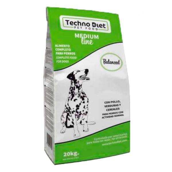 Pienso para perros Techno Diet Medium Line Balanced M1 20Kg