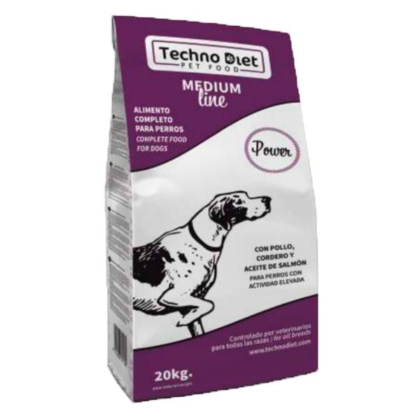 Pienso para perros Techno Diet Medium Line Power M2 20Kg