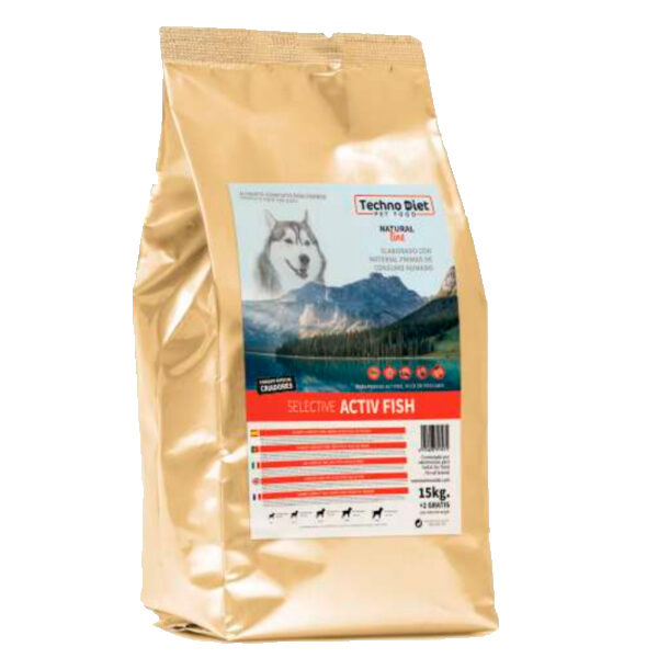 Pienso para perros Techno Diet Natural Line Selective Activ Fish N2 17Kg