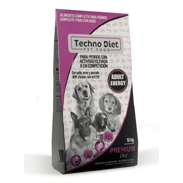 Pienso para perros Techno Diet Premium Line Adult Energy P2 18Kg