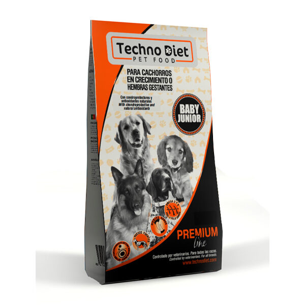 Pienso para perros Techno Diet Premium Line Baby Junior P3 18Kg