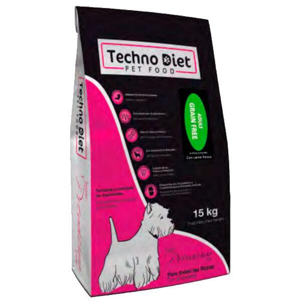 Pienso para perros Techno Diet Super Premium Line Adult Grain Free SP5 15Kg