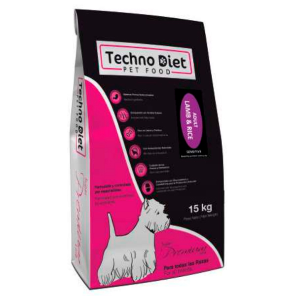 Pienso para perros Techno Diet Super Premium Line Adult Lamb & Rice SP4 15Kg