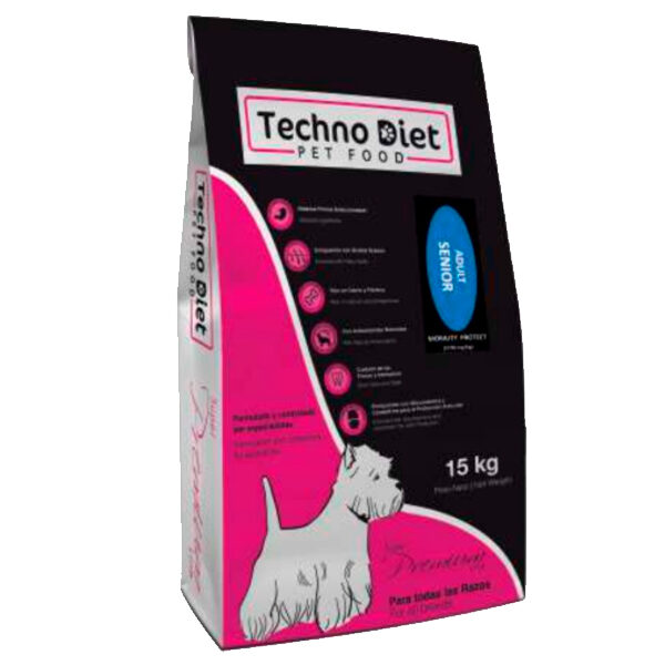 Pienso para perros Techno Diet Super Premium Line Adult Senior SP1 15Kg