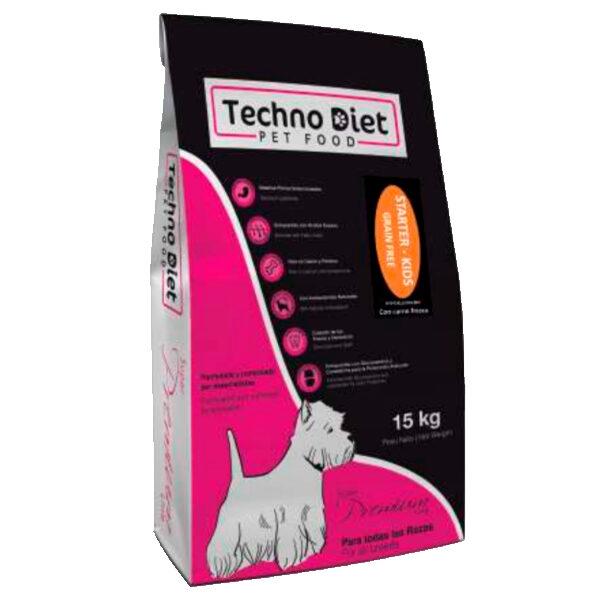Pienso para perros Techno Diet Super Premium Line Starter Kids SP6 15Kg