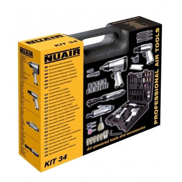 Kit Neumático 34 piezas Nuair