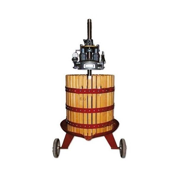 Hydraulische Weinpresse aus Holz 315kg INV VENMPREMAH-070