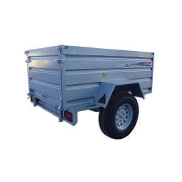 Remolque Yunque R.CNT-752 200x130x75 con rueda todo terreno y freno
